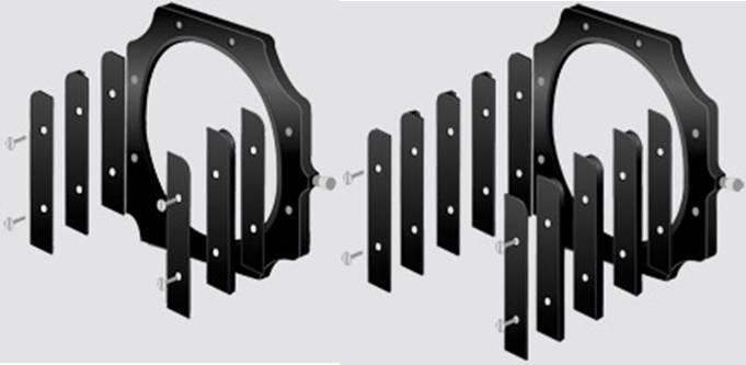 Portafiltros LEE y configuración para 2 y 3 filtros