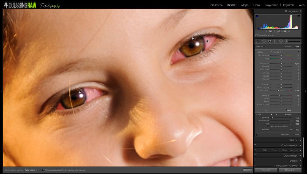 Consigue ojos más impactantes en Lightroom en un minuto