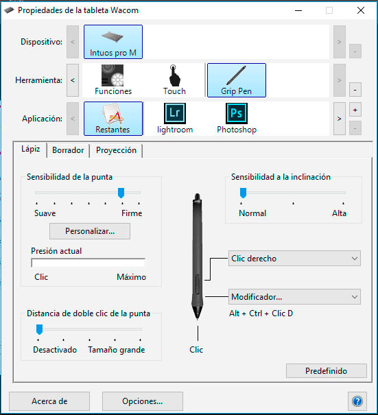 2-Configurar tableta photoshop puntero