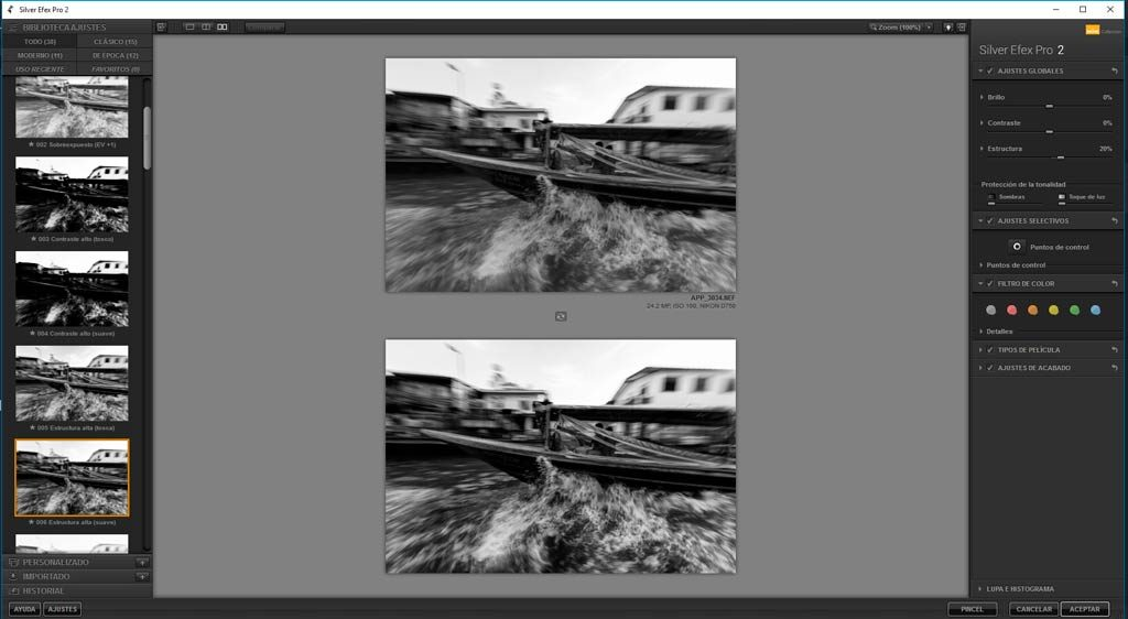 capa de ajuste de blanco y negro en photoshop