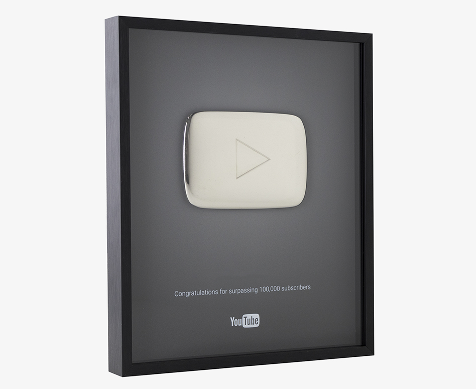 placa youtube 100k